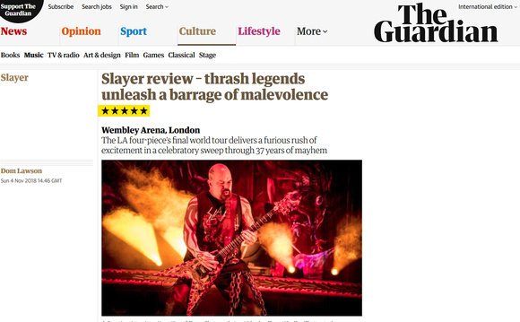 SLAYER in The Guardian