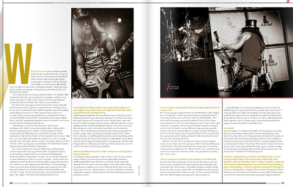 SLASH in Guitar World, December 2014