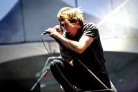 BEN KOWALEWICZ, lead singer of Billy Talent on stage at Downsview Park in Toronto during Edgefest 2012.
