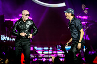 Enrique Iglesias and Pitbull Perform in Toronto