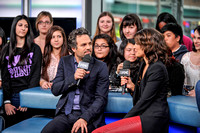 Mark Ruffalo and Cobie Smulders (The Avengers) at MuchMusic Headquarters, Toronto