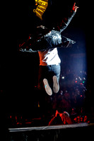 JACOB HOGGARD, lead sinder of Canadian rock band HEDLEY performes live at Air Canada Centre, Toronto
