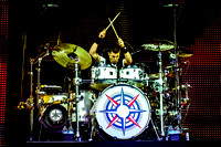 CRHIS CRIPPIN, drummer of Canadian rock band HEDLEY performes live at Air Canada Centre, Toronto