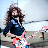 "RYAN GULLEN of ""Sheepdogs"" on stage at Downsview Park in Toronto during Edgefest 2012."